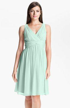 For Zoe? Donna Morgan Twist Silk Chiffon Dress #NordstromWeddings
