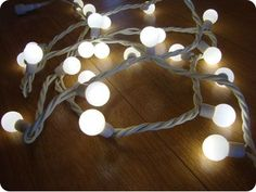 Warm White Festoon Party 100 LED Lights, 10M White Rubber Cable, Indoor