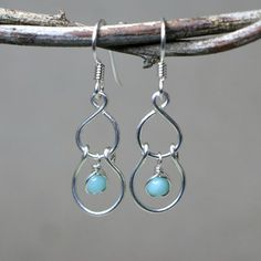 Sway Smooth Amazonite and Sterling Silver by CammieLaneJewelry