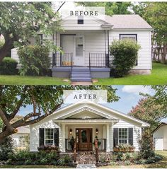 Curb Appeal Fixer Upper Front Curb Appeal Tips We Learned From Fixer Upper HGTV's . Before After Fixer Upper Fixer Upper Home Remodeling . Home and Family House, House Front, Flipping Houses, House Exterior, Home Remodeling, Home Exterior Makeover, Exterior Design, New Homes, Exterior Remodel