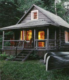 Welcoming log home retreat.