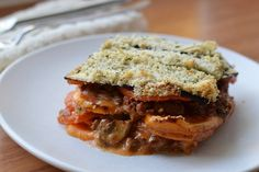 Romige Paleo Lasagne met Kruidenkorst