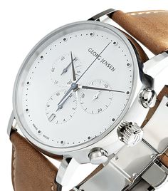 Georg Jensen Koppel Leather Watch | Harrods