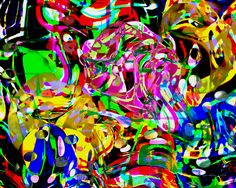 This piece uses organic shapes, this art is very abstract and very jumbled together. It has very positive space and is distorted. It gives off a mood of exuberance. Abstract Drawings, Abstract Art, Watercolor Artists, Stick Figures, Elements Of Art, Organic Shapes, Art Google, Geometric Shapes, Rainbow Colors