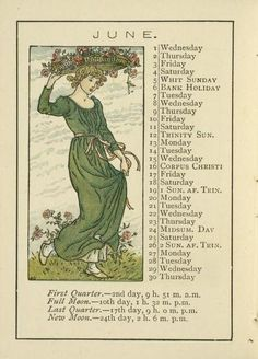 *Happy June everyone!  June. By Kate Greenaway. From Kate Greenaway's Almanack for 1892.  (via: NYPL)