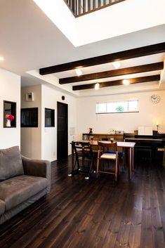 庭の桜の木を望む全館空調の快適な家 | 湘南の注文住宅 自然素材の木の家ラボワット建空間