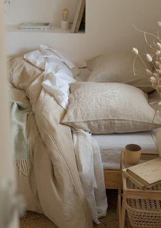 Beige linen pillowcase, washed linen pillow cover Standard Queen King Euro custom sizes