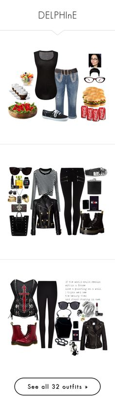 """""""DELPHInE"""" by the-walking-doctor ❤ liked on Polyvore featuring Silver Jeans Co., ATM by Anthony Thomas Melillo, Burberry, Keds, Chanel, Tiffany & Co., iTouch, Manic Panic NYC, WithChic and Phillip Gavriel"""