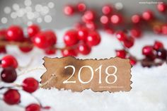 Red New Year 2018 Background Image