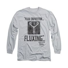 Back To The Future Fluxing Gray Long Sleeve T-Shirt