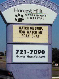 18 Hilarious (And Real) Veterinary Signs Found Around The Country