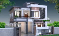 Arabella is a modern two storey house design with 3 bedrooms, total floor area of 232 square meters (not including roof deck). This house can be built in a lot Simple House Design, Bungalow House Design, House Front Design, Modern House Design, Modern Farmhouse Plans, Modern House Plans, Agra, Architecture Magazines, Amazing Architecture