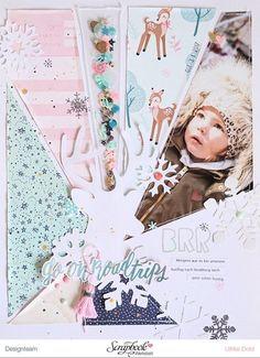 8.5 x 11 / scrapbook / winter