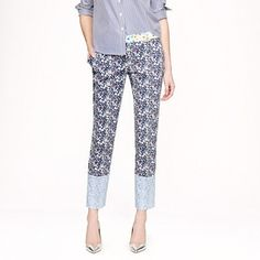 J.Crew Collection Liberty Café Capri in June's Meadow Floral ... OBSESSED