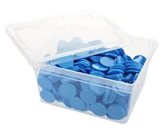 En-Joy blank plastic tokens - 500 coins - 29 mm - Light Blue