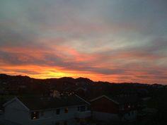 The sky is on fire.. Haugesund, Norway.