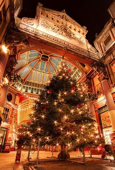 Christmas at Leadenhall Market, London