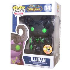Exclusive SDCC Funko World of Warcraft Shadow Illidan Pop Vinyl http://popvinyl.net #funko #funkopop #popvinyls