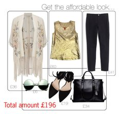 """""""Boho and metallic!"""" by valentina-personalstylist ❤ liked on Polyvore featuring Miss Selfridge, Tory Burch, MANGO, J.Crew and Revo"""