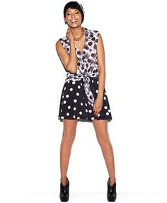 Black and white polka dots are made for anything.  Dress them up, down and in any season. MADE Fashion Week for Impulse   Chasing Life