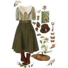 A fashion look from October 2014 featuring short sleeve floral dress, brown pleated skirt and mid-calf lace up boots. Browse and shop related looks. Pretty Outfits, Cool Outfits, Fashion Outfits, Fashion Shirts, Grunge Outfits, Grunge Style, Soft Grunge, Aesthetic Fashion, Aesthetic Clothes