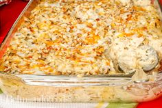 Wild Rice Casserole with Chicken, easy to prepare and perfect to feed a crowd. Chicken And Wild Rice, Shredded Chicken, Rice Casserole, Chicken Casserole, Water Chestnut, Cup Of Cheese, Bechamel Sauce, Toasted Almonds, Feeding A Crowd