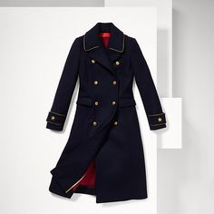 Tommy Hilfiger Wool Military Coat - navy blazer-pt (Blue) - Tommy Hilfiger Coats - detail image 6
