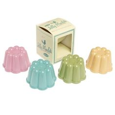 Set Of 4 DotComGiftShop Pantry Jelly Moulds: Amazon.co.uk: Kitchen & Home