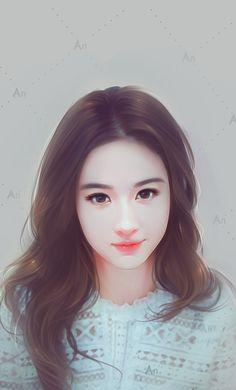 Chinese lady Tumblr Gril, Girl Cartoon, Cartoon Art, Manga Art, Anime Art, Asian Artwork, Cute Girl Wallpaper, Painting Of Girl, Korean Art