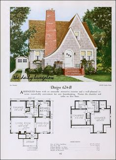 Plan Service (Good tiny plan - perhaps could be converted to adobe build with solar panel chalet roof? Cottage Floor Plans, Cottage Plan, Cottage Homes, House Floor Plans, Storybook Homes, Storybook Cottage, Sims House Plans, Small House Plans, The Plan