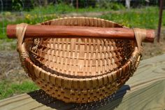 Rib Basket Egg Basket by CedarHillBaskets on Etsy