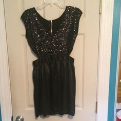 Black Sparkly Dress - Perfect for NYE Never worn! Black Sparkly Dress - Perfect for NYE Dresses Mini