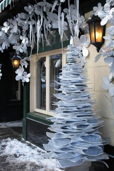 Recycled foam.  Could create lots of structures with a winter feel/look