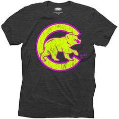 Chicago Cubs Triblend Neon T-Shirt - MLB.com Shop