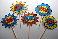 Superhero Words Pow Bam   Request a custom order and have something made just for you.