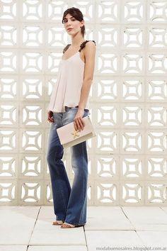 Moda 2015: Clara jeans primavera verano 2015 oxfords.