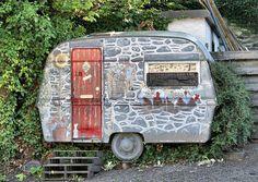 faded little stone caravan