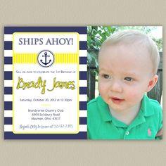 Nautical Stripes Printable Birthday Party by doubleudesign on Etsy, $16.00