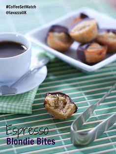 Bitesize Espresso Coffee Blondies #baking #chocolate #coffee