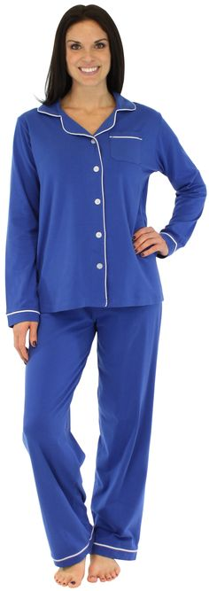 These high quality, medium weight pajamas have just the right stretch and weight for year round wear. Made of 95% cotton and 5% lycra.