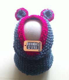 Buzo para bebe con orejitas de Bufandas With Style