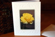 Check out this item in my Etsy shop https://www.etsy.com/listing/208575554/new-embossed-yellow-rose-blank-photo