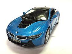 Kinsmart BMW i8 1:36 Scale Super Car, Blue - Diecast Model Cars