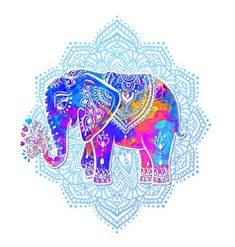 Abstract Indian ornamental elephant portrait on a Vector Image