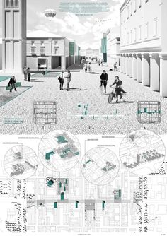 Post-Quake Visions; Young Architects Competition Results Announced /// Planche de concours d'Architecture ///