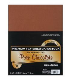 "Cardstock 8.5""X11"" 40/Pkg-Chocolate-Textured"