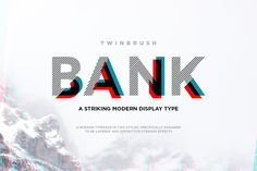 Ad: Bank typeface by Twinbrush Image Forge on Bank Typeface. A striking modern display font in two styles, (designed to be layered). Bank (now called BankNue) is a modern, all caps Font Design, Design Typography, Web Design, Graphic Design, Design Styles, Banner Design, Great Fonts, Cool Fonts, Modern Typeface