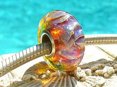 SUNSET RIPCURL OPaL Fully Lined Sterling Silver by beachlifebeads, $23.00
