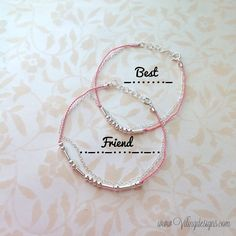 Hey, I found this really awesome Etsy listing at https://www.etsy.com/listing/176175439/best-friend-morse-code-bracelet