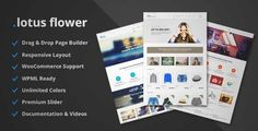 Download and review of Lotus Flower - Flexible Multi-Purpose Shop Theme, one of the best Themeforest eCommerces themes